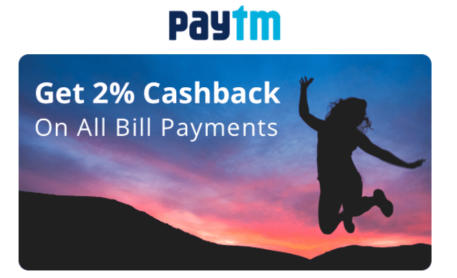 PayTM Cashback 2% Offer