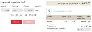 CIBC AC Conversion Card - Load Funds