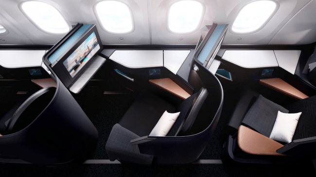 WestJet 787 Dreamliner Business Class