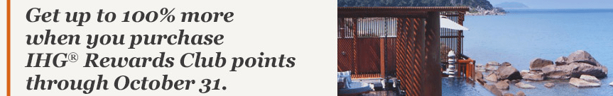 IHG Rewards Buy Points 100% Bonus
