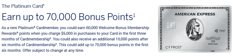 American Express Platinum Card - Referral Offer