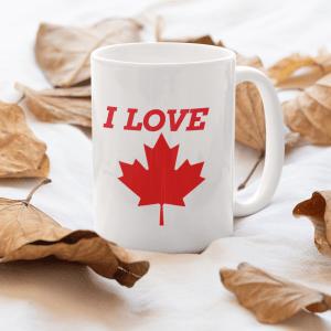 I Love Canada Coffee Mug, I Love Canada Gift Mug