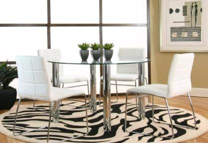 Hammarshee 5-Piece Dining Set - Glass