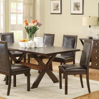 Whitesands 7-Piece Dining Set - Deep Oak Finish