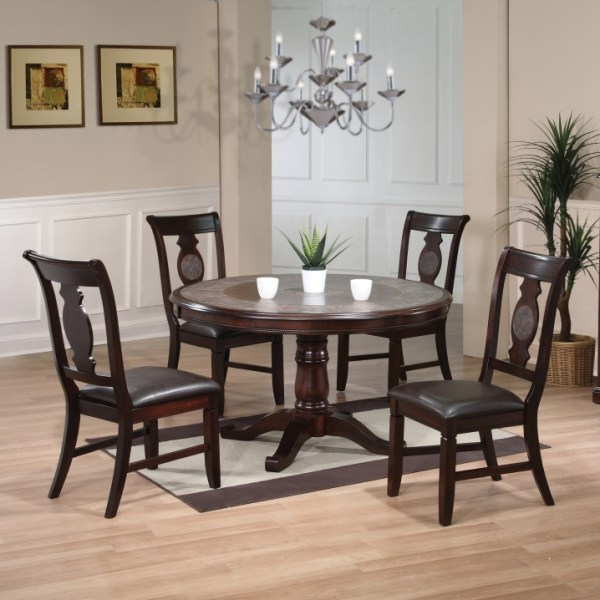 Berkley 5-Piece Dining Set - Espresso Finish