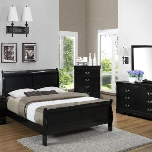 Avenza Queen Bed 2- Black
