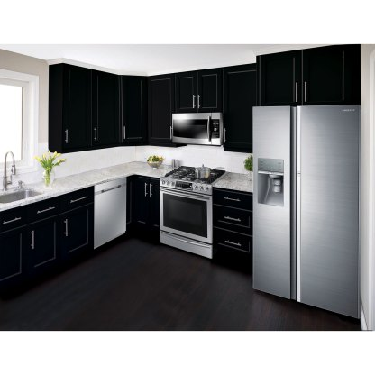 "NX58H9500WS Samsung® 30"" GAS Slide-in Range with True Convection - Stainless"