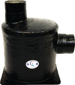 vernalift side in top out wet marine exhaust muffler centek