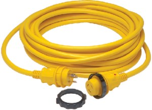 30A SHORE POWER CORD YEL 50FT