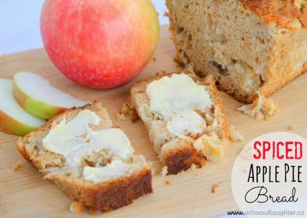 Spiced Apple Pie Bread - 20 Delectable Apple Dessert Recipes
