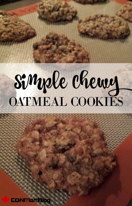 Simple Chewy Oatmeal Cookies
