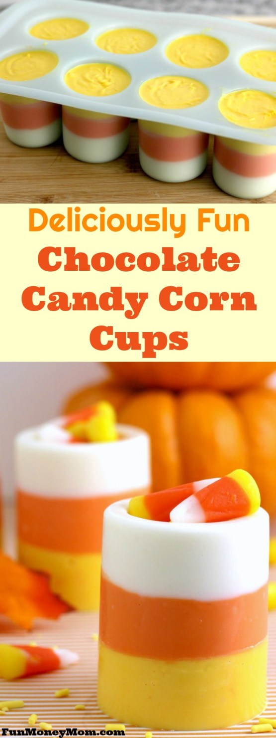 Deliciously Fun Candy Corn Cups from 30 Halloween Food & Treats Kids Will LOVE