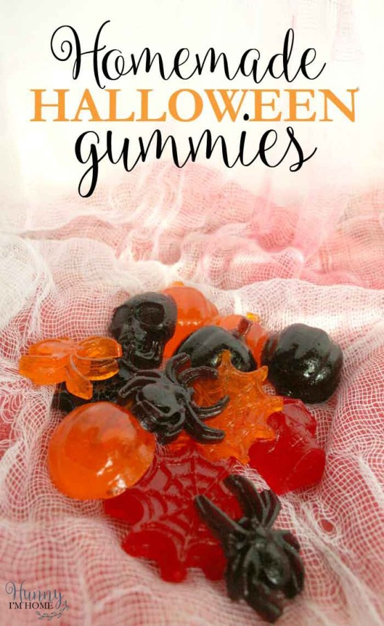 Homemade Halloween Gummies from 30 Halloween Food & Treats Kids Will LOVE
