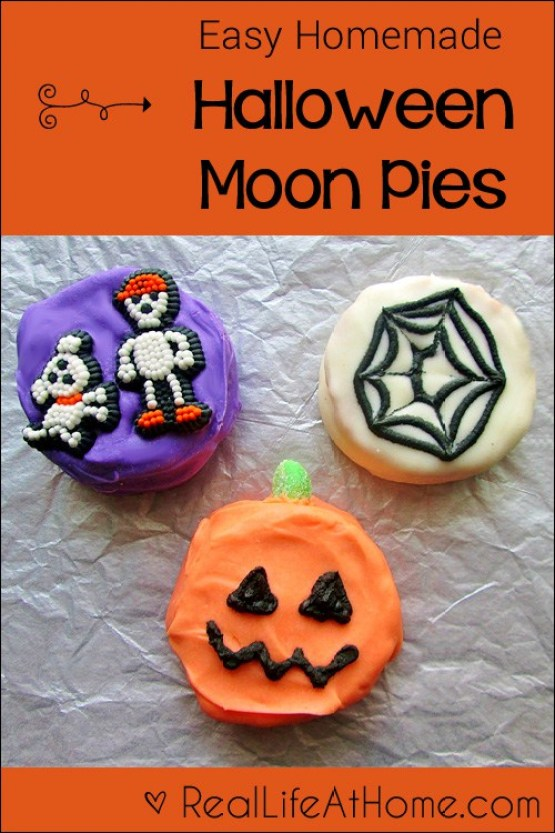 Homemade Halloween Moonpies from 30 Halloween Food & Treats Kids Will LOVE