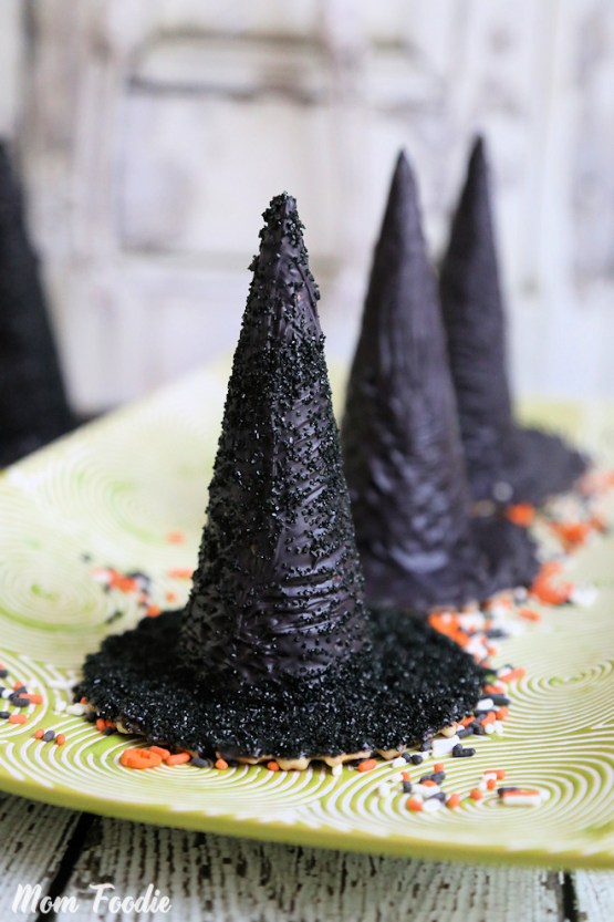 Surprise Inside Edible Halloween Witch Hats from 30 Halloween Food & Treats Kids Will LOVE
