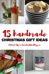 15 Handmade Christmas Gift Ideas - A Round Up on CanadianMomBlog.ca
