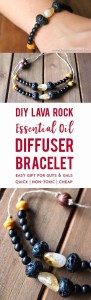DIY Lava Rock Oil Defuser Bracelet - 15 Handmade Christmas Gift Ideas from CanadianMomBlog.ca