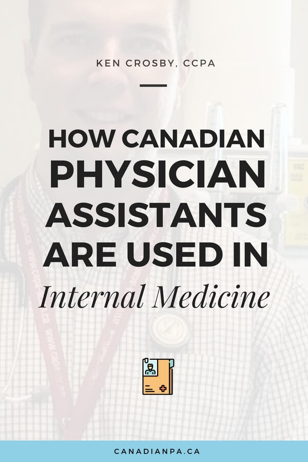How Canadian Physician Assistants are used in Internal Medicine Ken Crosby