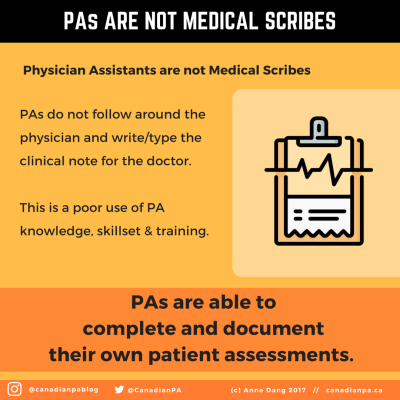 Physician Assistants are not Medical Scribes