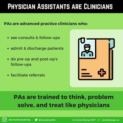Physician Assistants are Clinicians