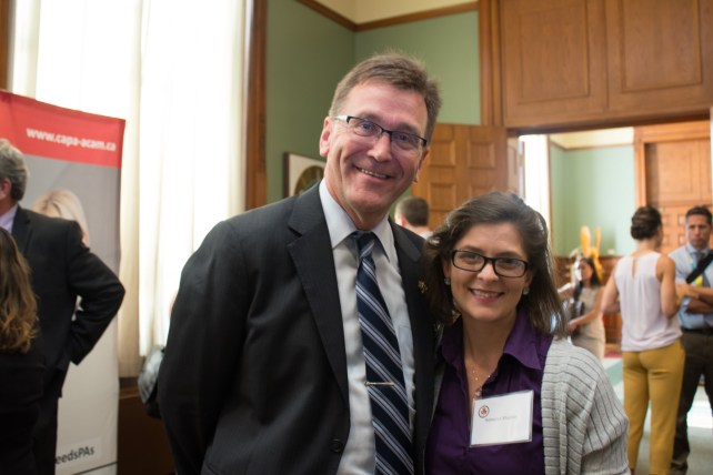 Bill Walker is MPP of Bruce-Grey-Owen Sound and met with a constituent (and PA!) in his riding, Rebecca Mueller. They discussed health care access concerns within his riding & about how PAs could help.