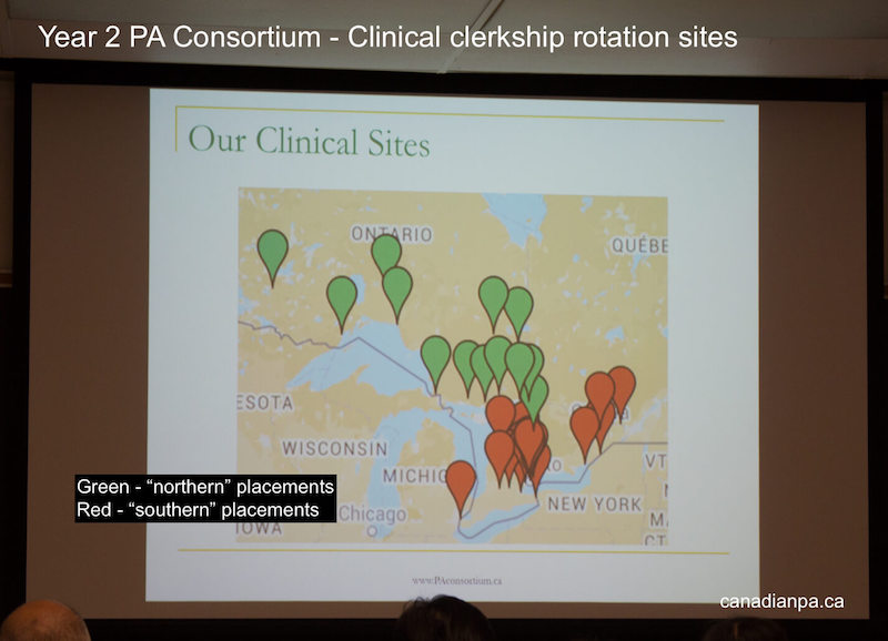 Year 2 Physician Assistant University of Toronto PA Clinical Clerkship Rotation Locations