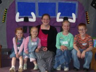 Clarissa with Jeffery, Janessa, Jaylee, and Janae
