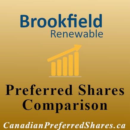 Rank Brookfield Renewable Power & LP Preferreds - canadianpreferredshares.ca