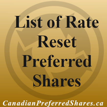 List of Rate Reset Preferred Shares Canada