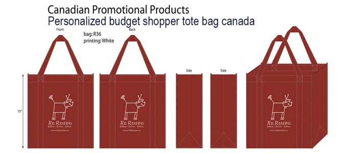 Personalized budget shopper tote bag canada