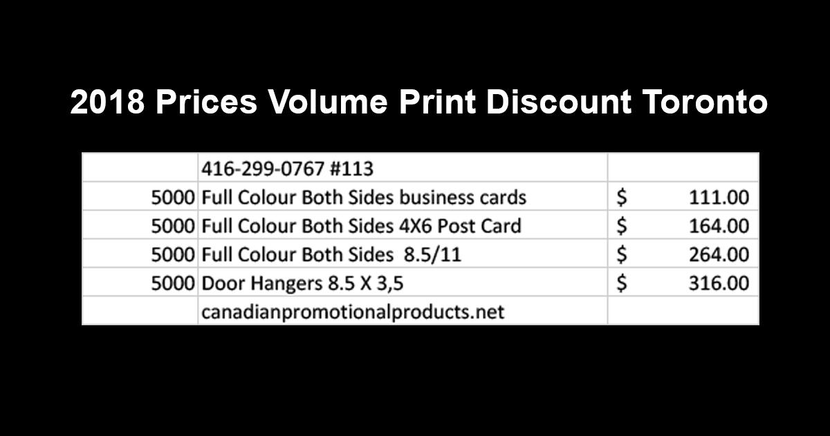 Volume print discount toronto reheart Gallery