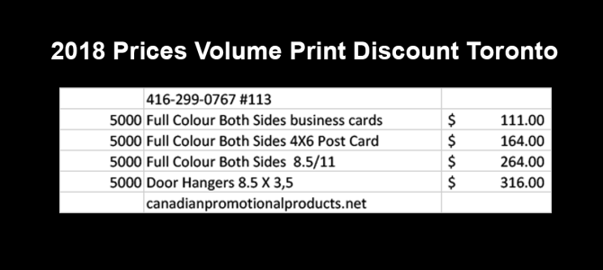 Volume Print Discount Toronto