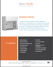 Brochure Solution Hood