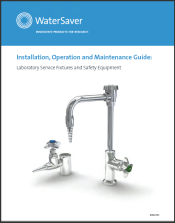 WaterSaver-Installation, Operation and Maintenance Guide