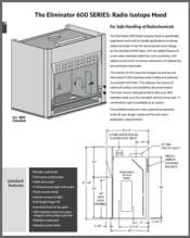 Eliminator 600 SERIES Radio Isotope Hood