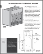 Eliminator 700 SERIES Perchloric Acid Hood