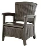 resin storage patio chair