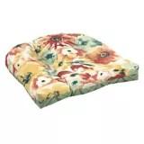 canvas poppy wicker patio chair cushion