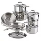 kitchen vessels set and bath stores cookware sets canadian tire paderno signature stainless steel 13 pc