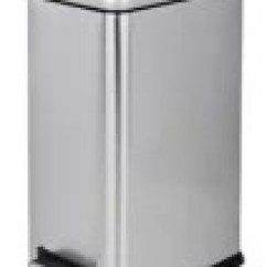 Kitchen Trash Bin Corner Booth Cans Canadian Tire For Living Rectangular Stainless Steel Garbage 15 L