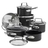 kitchen vessels set cabinets ct cookware sets canadian tire paderno hard anodized non stick cookset 12 pc