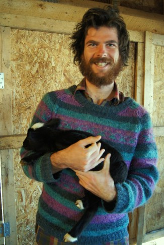 Yup thats a lamb and my sweater is purple (Credit: Sam)