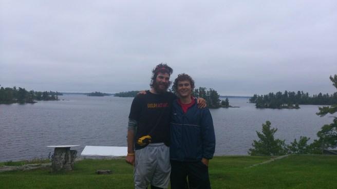 Me and Jeff on Rainy Lake