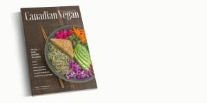 Canadian Vegan Magazine cover mockup
