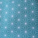 Lin et origami bleu