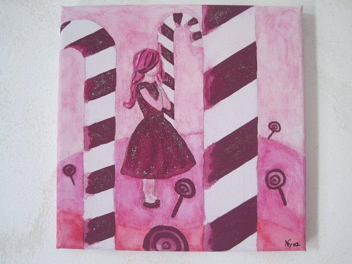 Tableau Deco Decoration Chambre Enfant Bebe Fille Bonbon