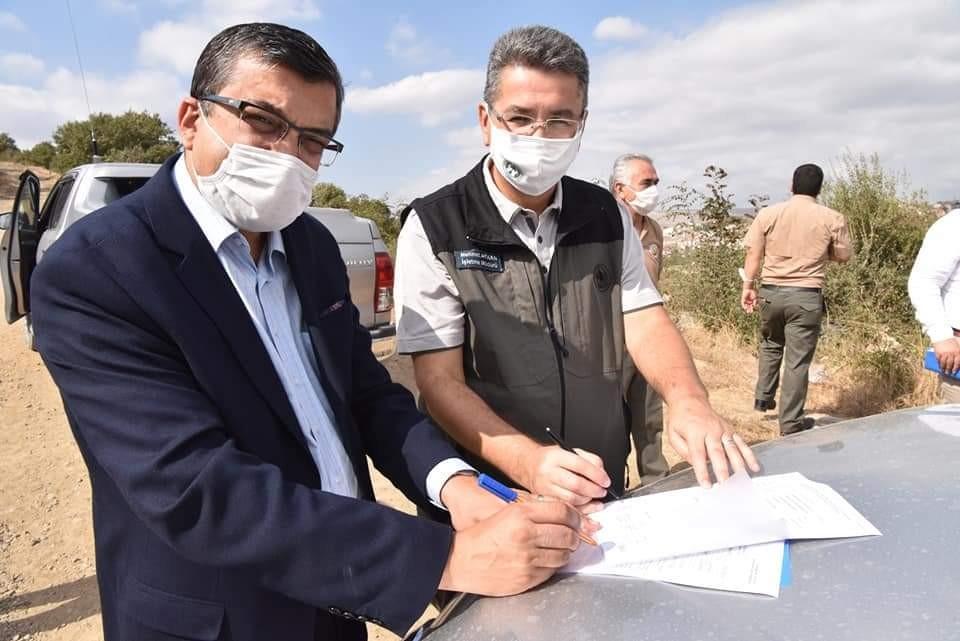 Çan Belediyesi hayvan barınağı projesi yer tahsisi gerçekleştirildi
