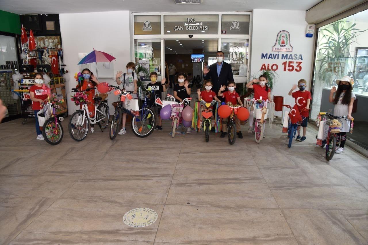 Çan'da en güzel bisiklet yarışması düzenlendi