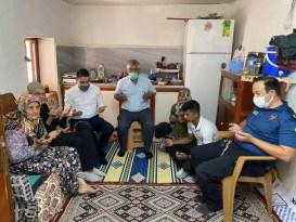 Kaymakam Göktaş'tan şehit ailesine bayram ziyareti