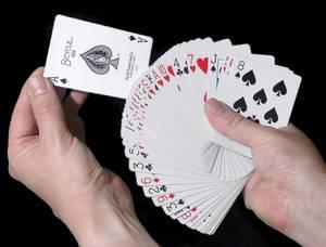 cartas na mão